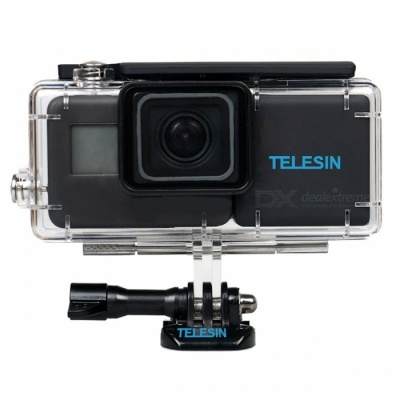 TELESIN 2300mAh Extended Backup Batteries and Waterproof Case Housing for GoPro Hero6/5