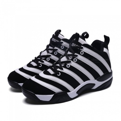 8818 Anti-Skid Leisure Casual Style Men's Sports Shoes for Outdoor Mountaineering Cycling - Black + White (41#)