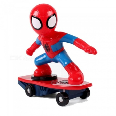 ZHAOYAO 360-Degree Rotation Spiderman Scooter RC Car, Educational Toy for Kids