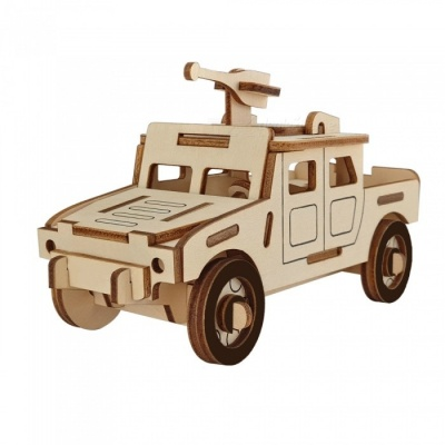 DIY Hummer Jeep Style 3D Wooden Puzzle Educational Toy