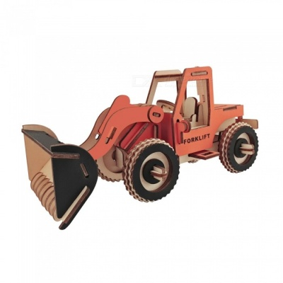 DIY Forklift Style 3D Wooden Puzzle Educational Toy