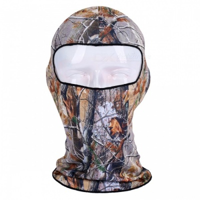 NUCKILY PK11(BB-11) Warm Windproof Breathable Full Face Mask Scarf Headdress for Winter Riding - Dark Brown