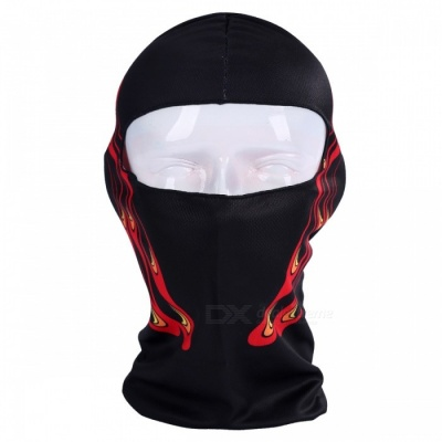 NUCKILY PK11(BB-15) Warm Windproof Breathable Full Face Mask Scarf Headdress for Winter Riding - Black + Red