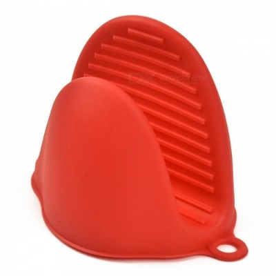 BSTUO Silicone Heat Resistant Gloves Clips Multifunction Anti-slip Pot Bowel Holder Clip - Red