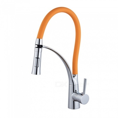 F-9071C Brass Chrome 360 Degree Rotatable Ceramic Valve Single Handle One-Hole Kitchen Faucet