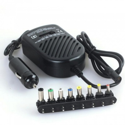 ZHAOYAO Universal Portable 80W 8-Port Car Charger for Laptop - Black