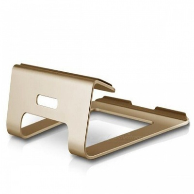 Stylish Portable Aluminum Alloy Stand Bracket Support Holder for Laptop Notebook - Golden