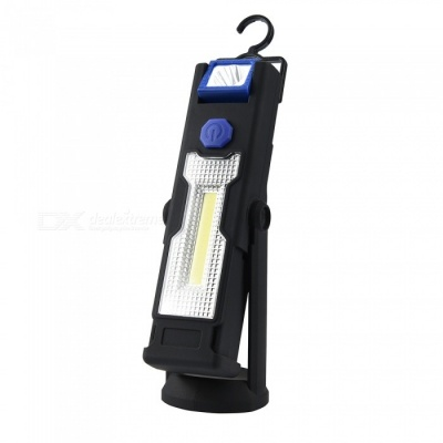 Multi-functional COB LED Work Light with Bracket Stand, Strong Magnetic Hook Can Be Reversed - Black + Blue