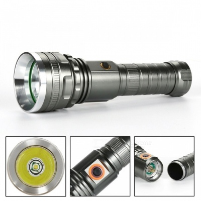 SPO T6 Portable Super Bright Long-Range Flashlight for Home Use or Outdoor Cycling