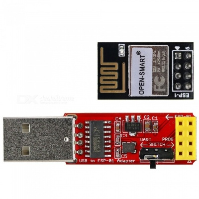 OPEN-SMART ESP-1 ESP8285 Serial Wi-Fi Wireless Transceiver Module + USB to ESP-01 Adatper Module, Compatible with ESP8266 ESP-01