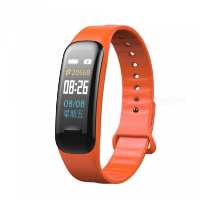 C1 Plus Color LCD Screen Smart Bracelet Fitness Tracker with Blood Pressure Blood Oxygen Heart Rate Monitoring - Orange