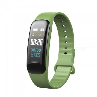 C1 Plus Color LCD Screen Smart Bracelet Fitness Tracker with Blood Pressure Blood Oxygen Heart Rate Monitoring - Green