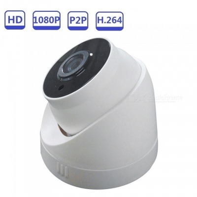 Strongshine 2.0MP 1080P Dome CCTV Security Camera w/ IR Night Vision - White