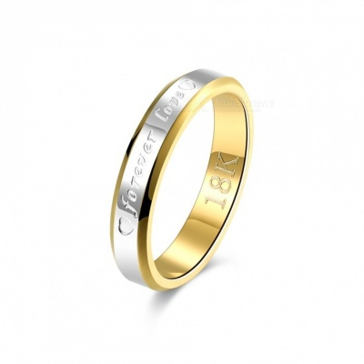Engagement Gold Silver Plated Forever Love Letter Jewerly, Women's Ring - Size 6