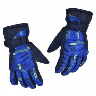 CTSmart AT8816 Unisex Outdoor Mountaineering Fishing Non-Slip Waterproof Padded Gloves - Dark Blue