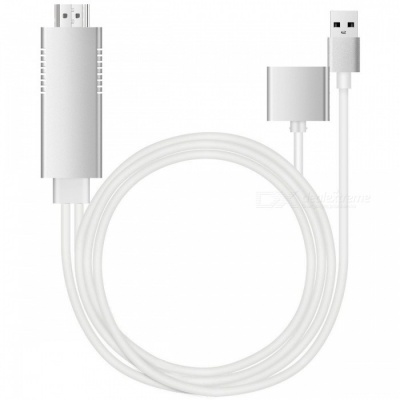 Kitbon Lightning MHL OTG to HDMI Mirroring High-Speed 1080P HDTV Audio Cable, Support All IOS and Android