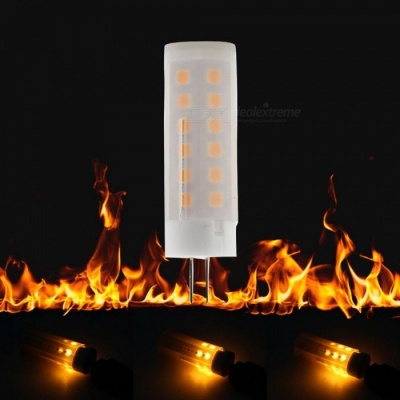 ZHAOYAO G4 5W DC 12V 2835SMD-36LEDs LED Flame Lamp for Home Decoration