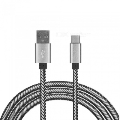 USB Type-C Charging Data Cable for Xiaomi Mi5 / Oneplus 3T / Oneplus 5T / Oneplus 5 - White (100CM)