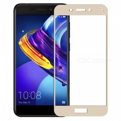Naxtop Full Screen Protector Tempered Glass for Huawei Honor 6C Pro - Gold