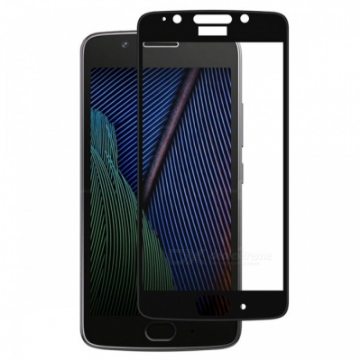 Naxtop Tempered Glass Full Screen Protector for Moto G5 - Black