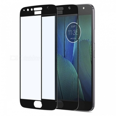 Naxtop Tempered Glass Full Screen Protector for Moto G5S Plus - Black