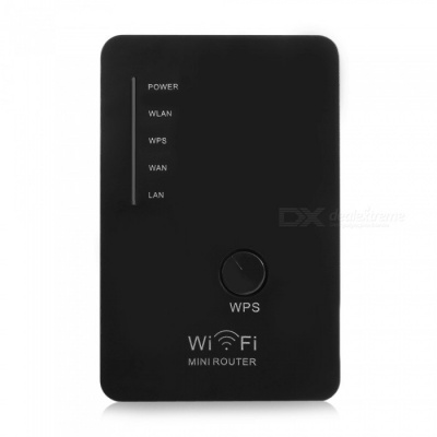 Portable 300Mbps Dual-Band Wireless Wi-Fi Repeater - White