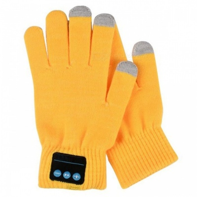 ST3 Bluetooth Touch Screen Handsfree Call Gloves - Yellow