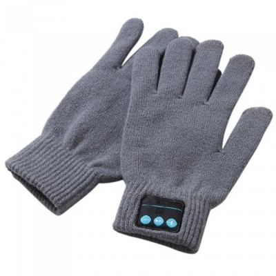 ST3 Bluetooth Touch Screen Handsfree Call Gloves - Grey