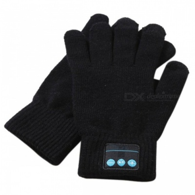 ST3 Bluetooth Touch Screen Handsfree Call Gloves - Black
