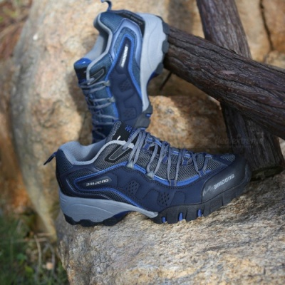 Ctsmart 8061 Outdoor Men's Large Size Hiking Shoes for Spring and Autumn - Dark Blue (45#)