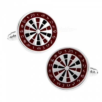 Alloy Target Plate Design Men's Cufflinks - Silver + Multicolor (1 Pair)