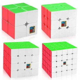 MoYu Speed Cube Bundle, 2x2 50mm, 3x3 56mm, 4x4 62mm, 5x5 64mm Smooth Magic Cube Set with Gift Box