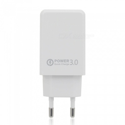 QC 3.0 5V 3A Quick Charge USB AC Charger USB Wall Charger - White (EU Plug)
