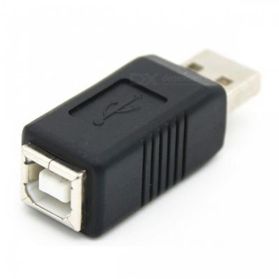 Dayspirit USB 2.0 A Male Plug to USB 2.0 B Female Jack Adapter Connector, AM to BF Connector
