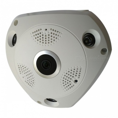 STRONGSHINE HD 960P 1.3MP 360 Degree Panoramic CCTV Wireless Wi-Fi IP Camera with Fisheye Lens, Night Vision - UK Plug