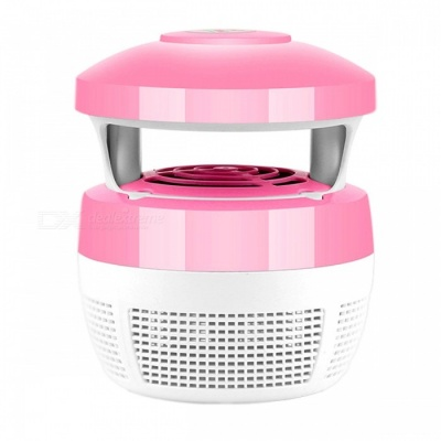 Fan Suction LED Light Source Household Mosquito Killer - Pink + White