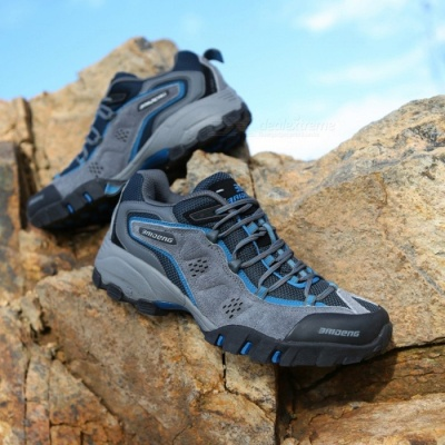Ctsmart 8061 Outdoor Men's Large Size Hiking Shoes for Spring and Autumn - Dark Blue (41#)