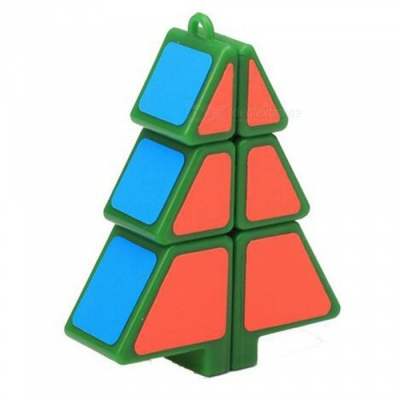 QiYi Speed Cube Christmas Tree Cube Finger Puzzle Christmas Gift - Green