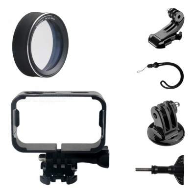MC-UV Protective Lens Cover + Camera Frame + J Type Base + Strap + Other Parts for Xiaomi MiJia Camera