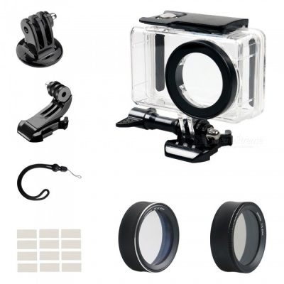 CPL & MCUV Protective Lens Covers + Camera Waterproof Shell + J Type Base + Strap + Other Parts for Xiaomi MiJia Camera