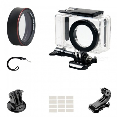 PRO-MCUV Protective Lens Cover + Camera Waterproof Shell + J Type Base + Strap + Other Parts for Xiaomi MiJia Camera