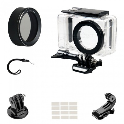 MC-CPL Protective Lens Cover + Camera Waterproof Shell + J Type Base + Strap + Other Parts for Xiaomi MiJia