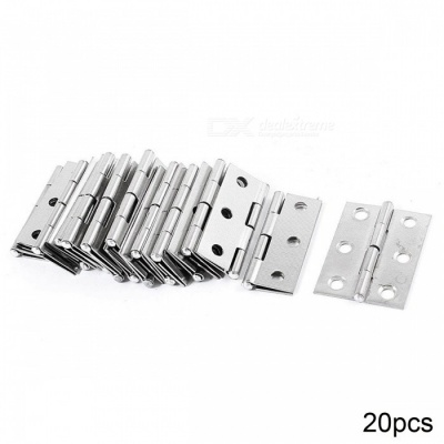 """RXDZ 1.7"""" Length Silver Tone Stainless Steel Single Action Door Butt Hinges - 20PCS"""