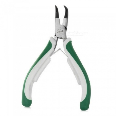 Dayspirit 359B High-Carbon Steel Inside bent Circlip Pliers - Green + White