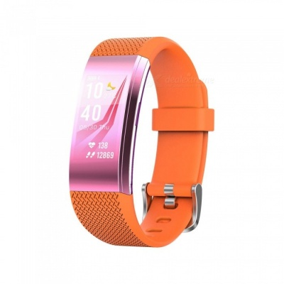 F4 Color Screen Smart Bluetooth Wristband with Heart Rate / Sleep Monitoring, Remote Control Photo - Orange