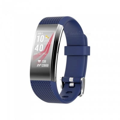 F4 Color Screen Smart Bluetooth Wristband with Heart Rate / Sleep Monitoring, Remote Control Photo - Blue