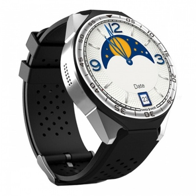 """ZGPAX S99C 1.39"""" AMOLED 3G Android Watch Phone with Heart Rate Monitoring, Pedometer, Wi-Fi - Silver"""