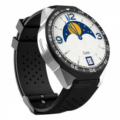 """ZGPAX S99C 1.39"""" AMOLED 3G Android Watch Phone with Heart Rate Monitoring, Pedometer, Wi-Fi - Black + Silver"""