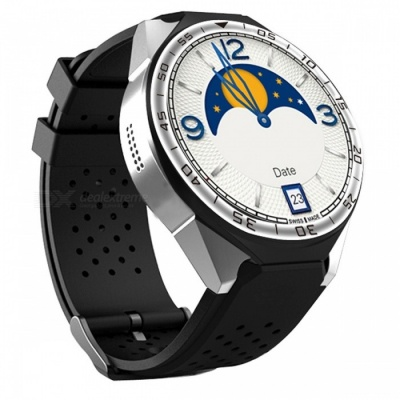 """ZGPAX S99C 1.39"""" AMOLED 3G Android Watch Phone with Heart Rate Monitoring, Pedometer, Wi-Fi"""