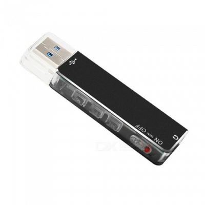 Maikou M03 8GB Multi-function U Disk, USB Flash Drive with Recording Function - Black